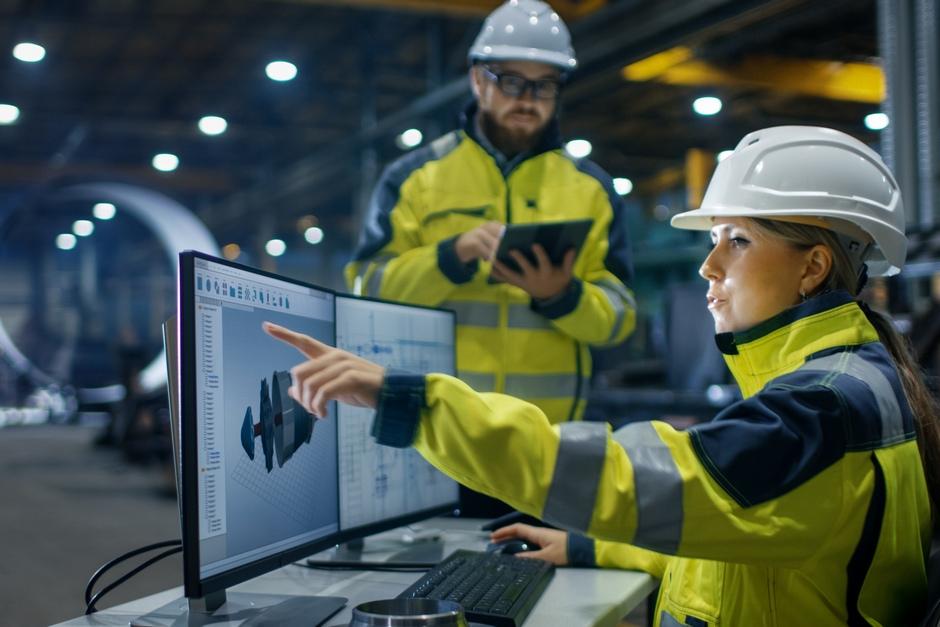 Female engineer working