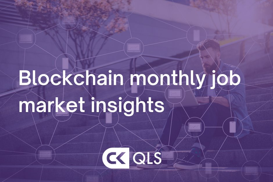 Blockchain job market insights graphic
